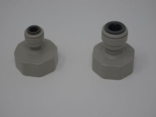 "BSP Push Fit Connector 1/4"" or 3/8"" x 3/4"""